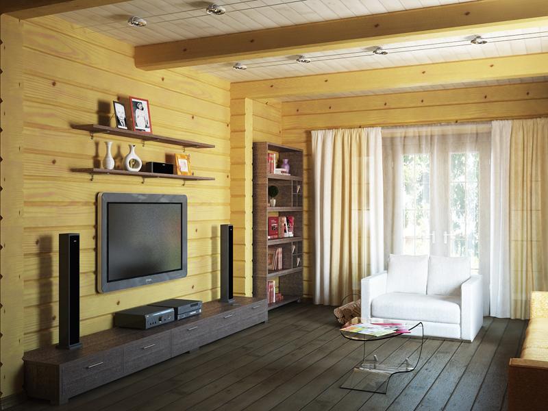 Интерьер дома из бруса внутри фотогалерея  Дом из бруса