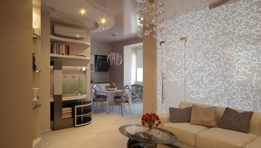 Проект дизайна интерьера двухкомнатной квартиры 173