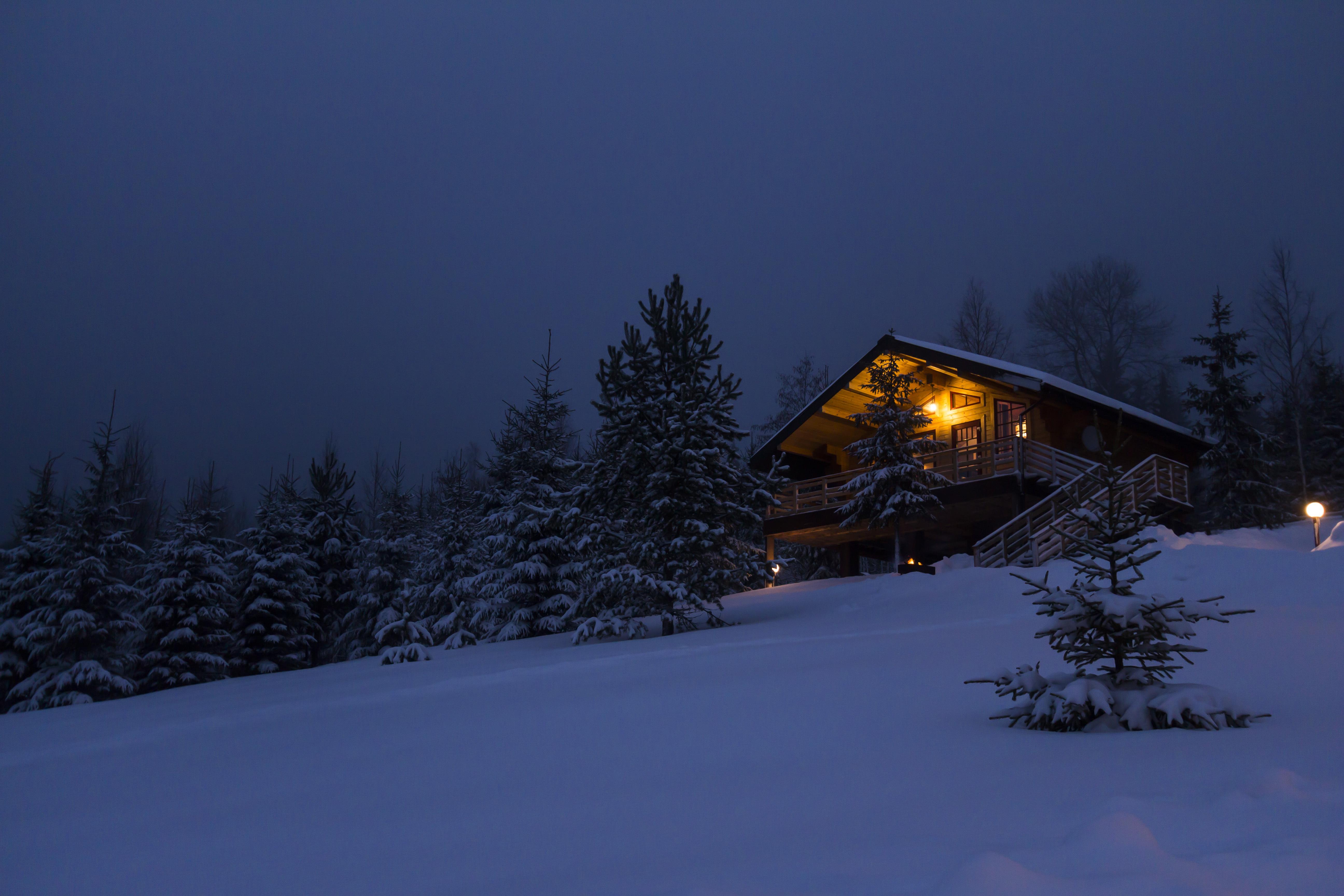 Зимняя Деревня Обои На Рабочий Стол