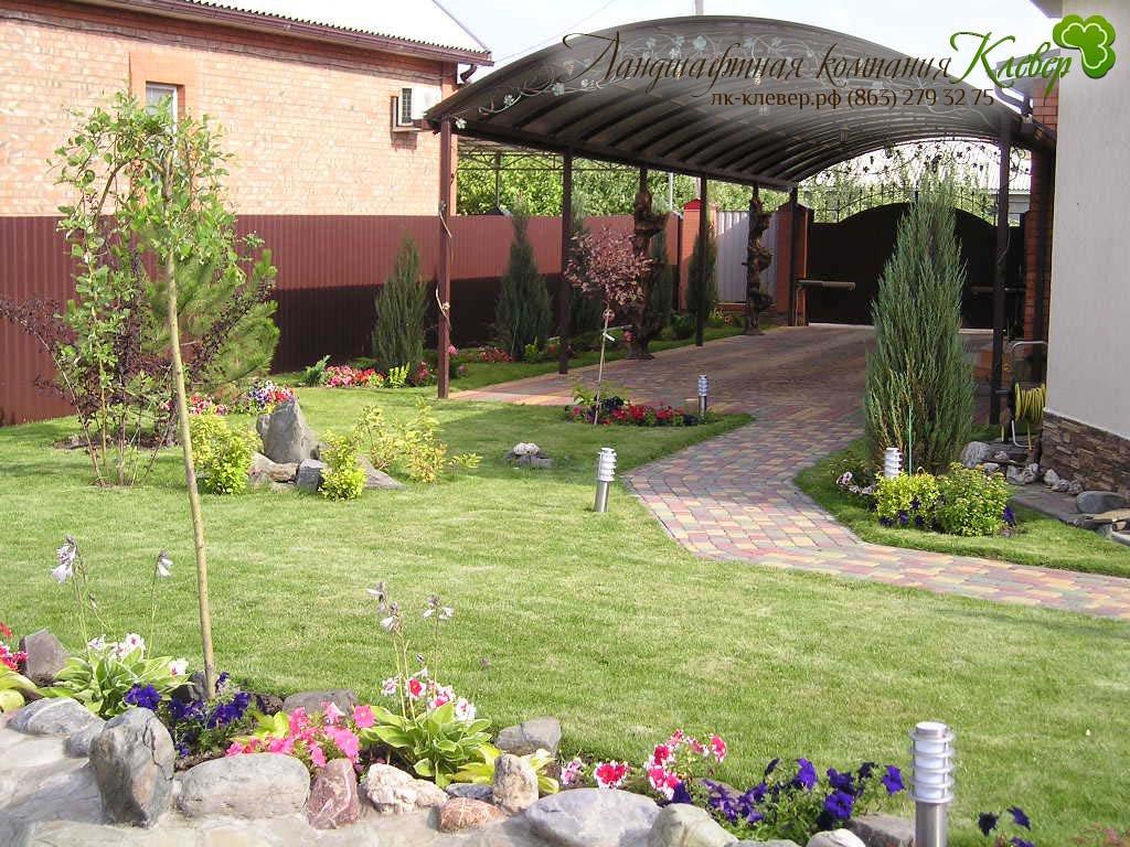 частный двор фото дизайн