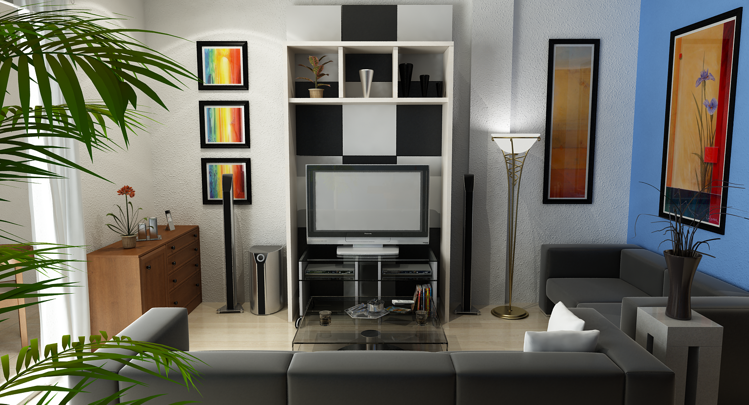 3d living room design online