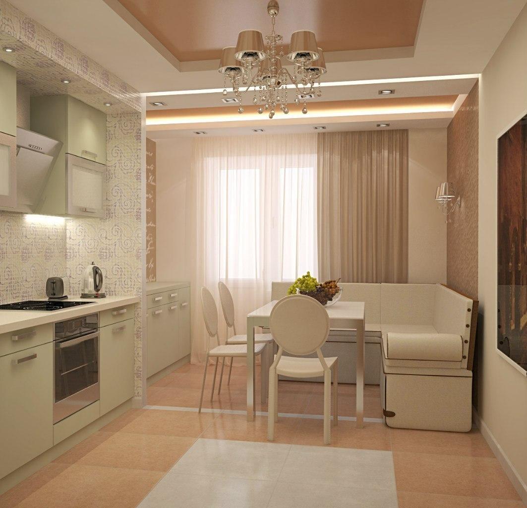 Дизайн кухни в типовой квартире дизайн кухни - фото, описани.