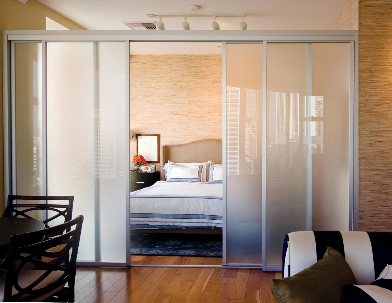 Правильное разделение комнаты на спальню и гостиную - 44 иде.