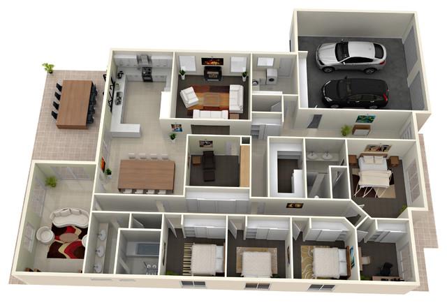 Create 3d house design for Creation plan 3d