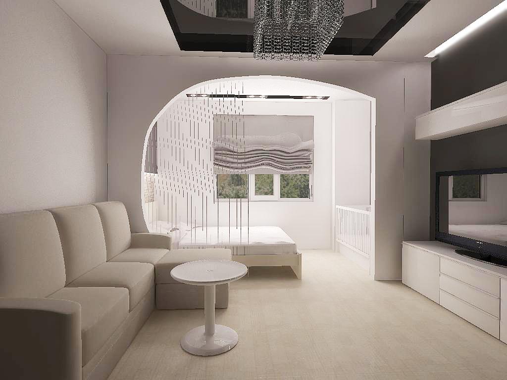 интерьер комнаты спальня-гостиная 18 кв.м фото