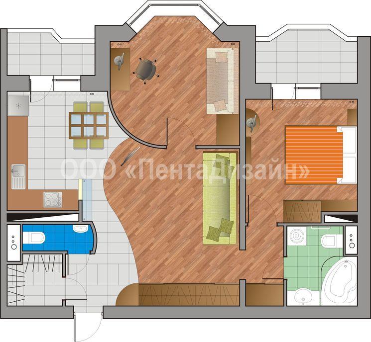 "Дизайн 2-х комнатной квартиры и-155 "" картинки и фотографии ."