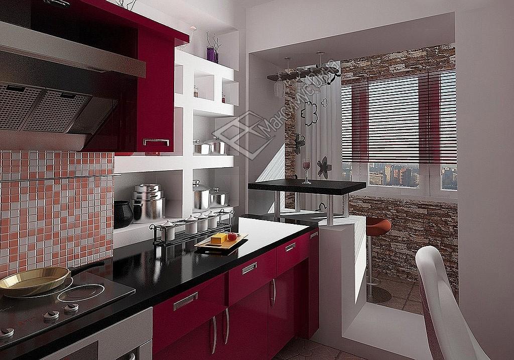 Дизайн кухни совмещенной с балконом 2015 современные идеи.