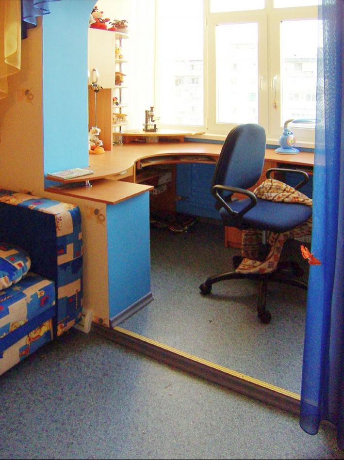 """Дизайн детской комнаты совмещенной с лоджией """" картинки и фо."""