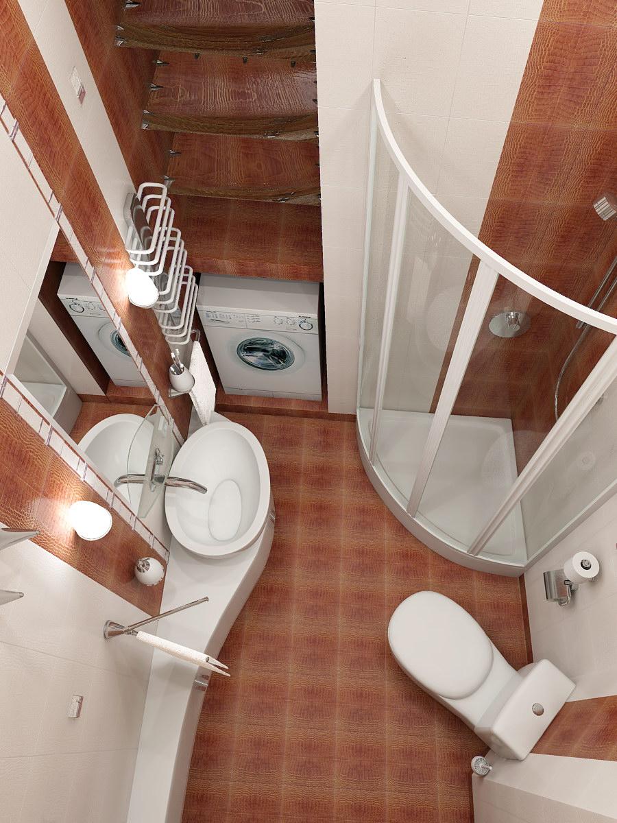 интерьеры маленьких ванных комнат фото / Pinme