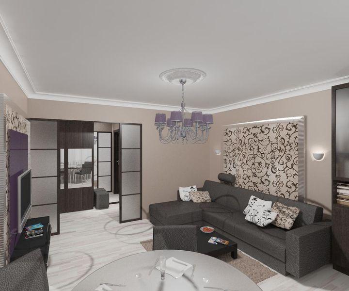 фото дизайн зала в панельном доме