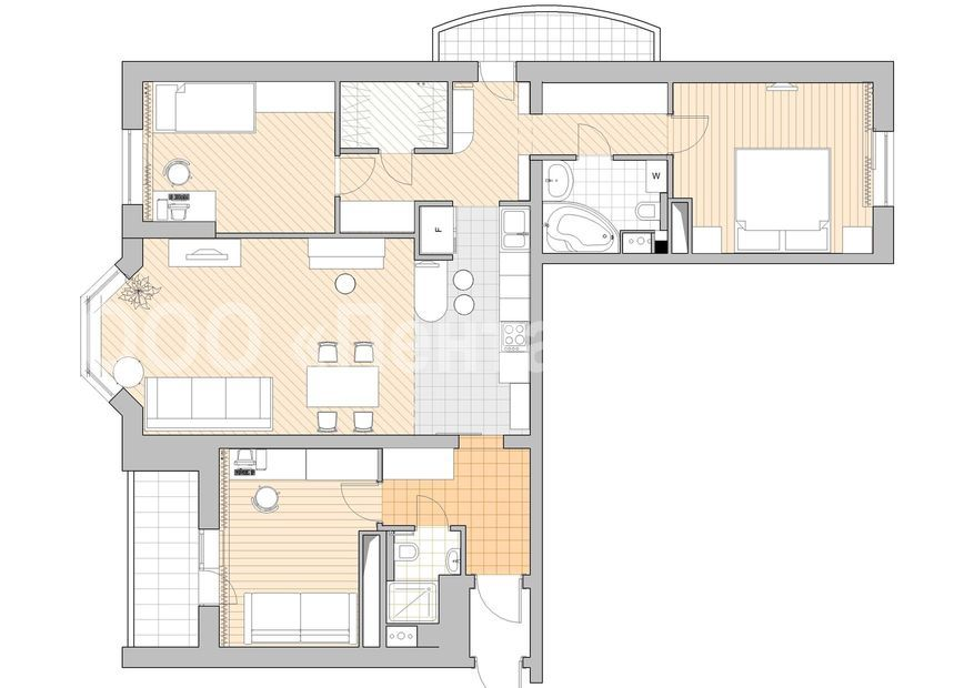 """Перепланировка 3 комнатной квартиры в 4 """" картинки и фотогра."""