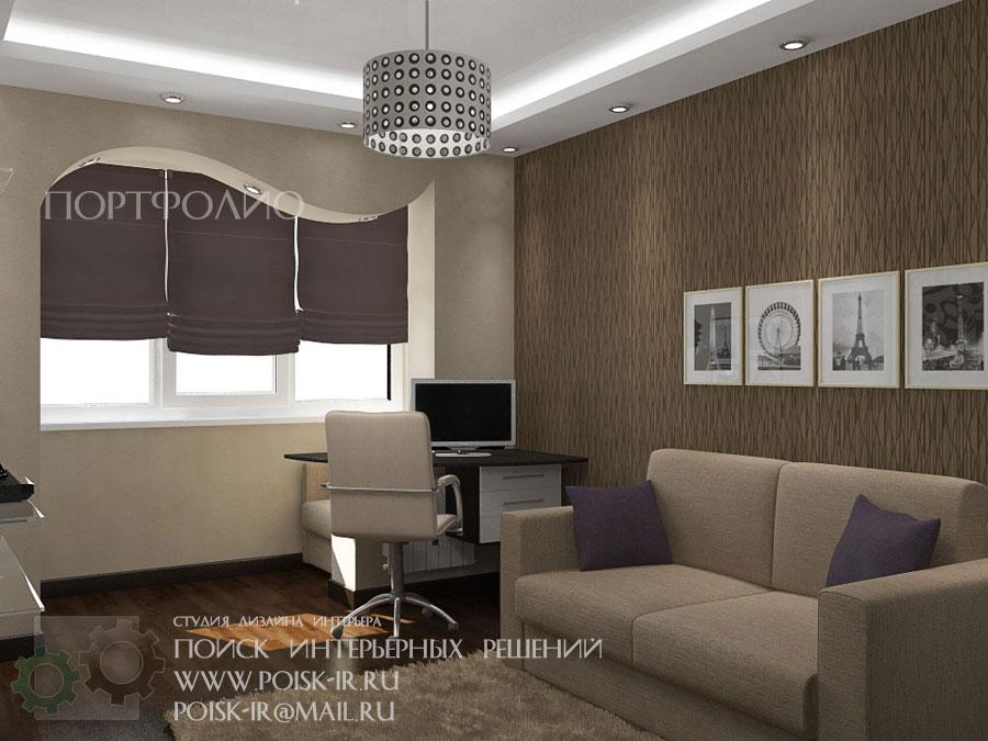 Дизайн маленькой спальни с диваном вместо кровати