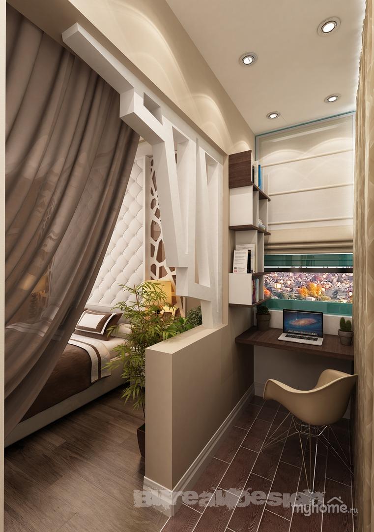 Спальня совмещенная с балконом, кладовка (квартира в красног.