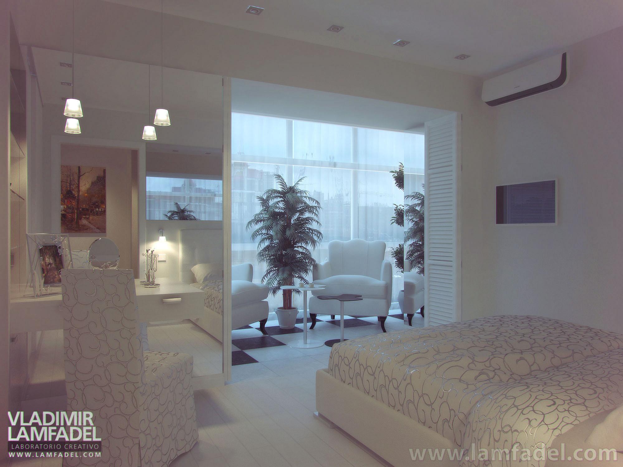 """Красивый дизайн спальни с балконам """" - карточка пользователя."""