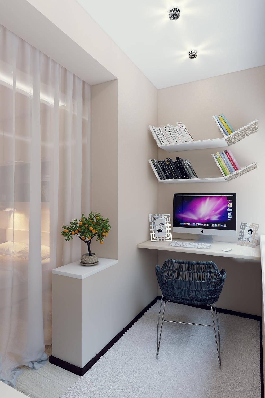 Дизайн балкона в квартире совмещенный с спальней.
