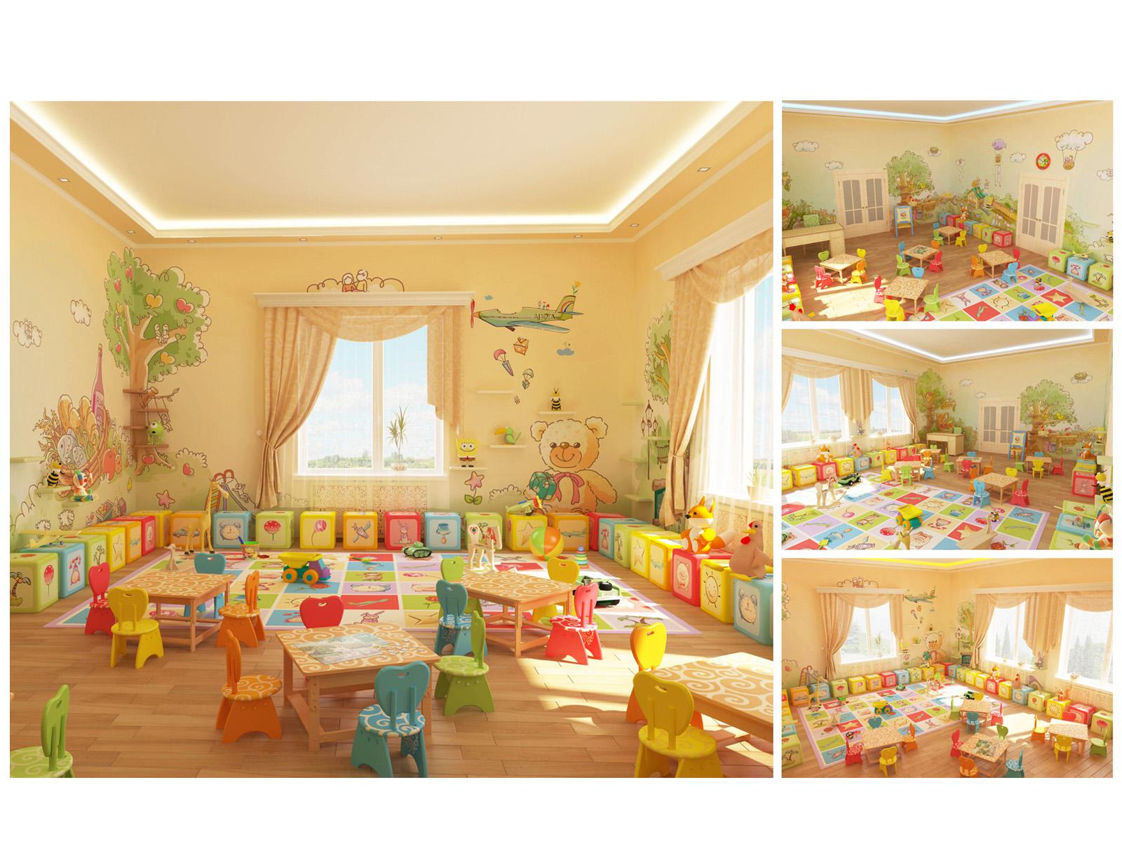 """Дизайн игровой комнаты в детском саду """" картинки и фотографи."""