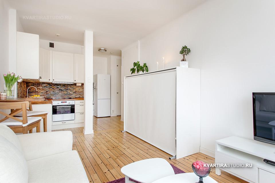 Дизайн квартир-студий от 25 до 30 кв. м. - ещё больше вдохно.