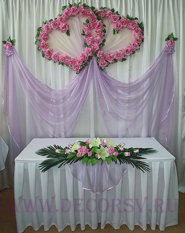 Оформление стола невесты своими руками фото 931