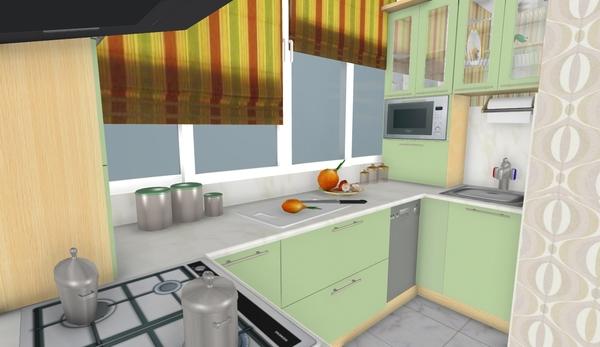 """Дизайн кухни 10 м2 с балконом фото """" картинки и фотографии д."""