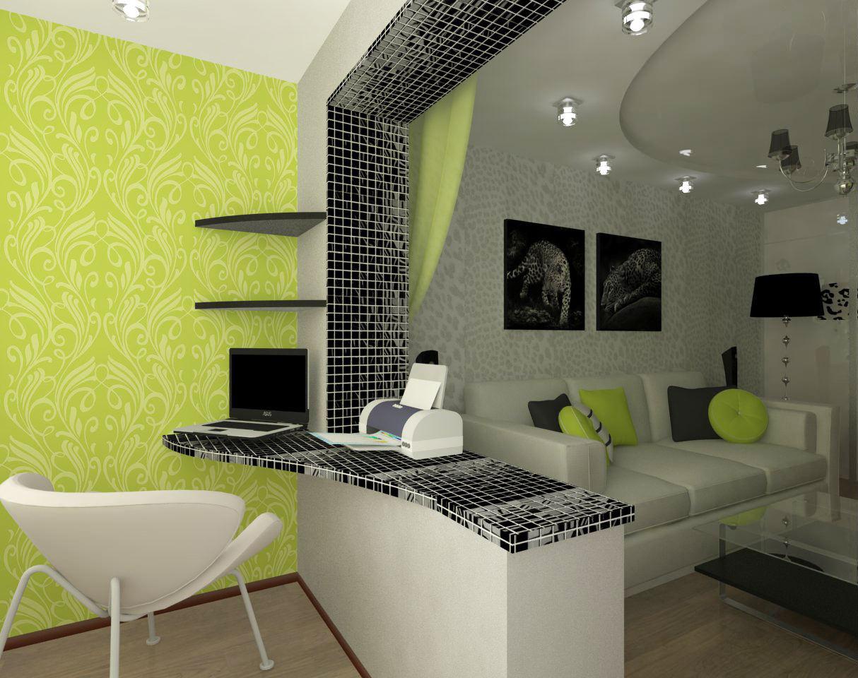 """Дизайн зала совмещенный с балконом """" картинки и фотографии д."""