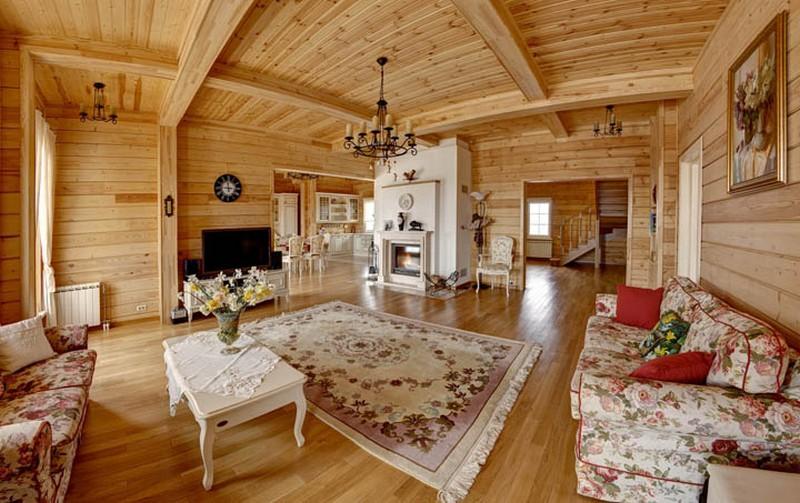 обустройство нового деревянного дома внутри очень эластичное