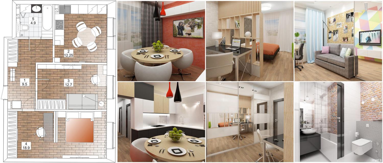 Проект дизайн квартир новосибирск