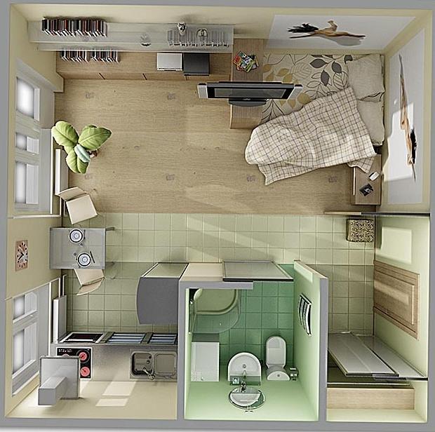 "Дизайн малогабаритной однокомнатной квартиры хрущевки "" карт."