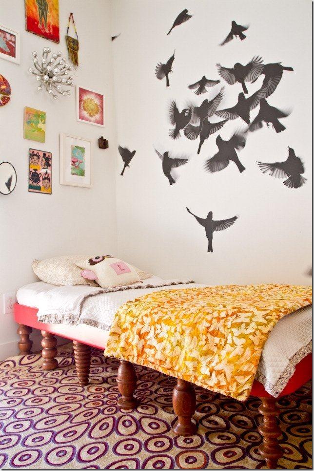 Интерьер спальни с фотообоями как украсить стены в