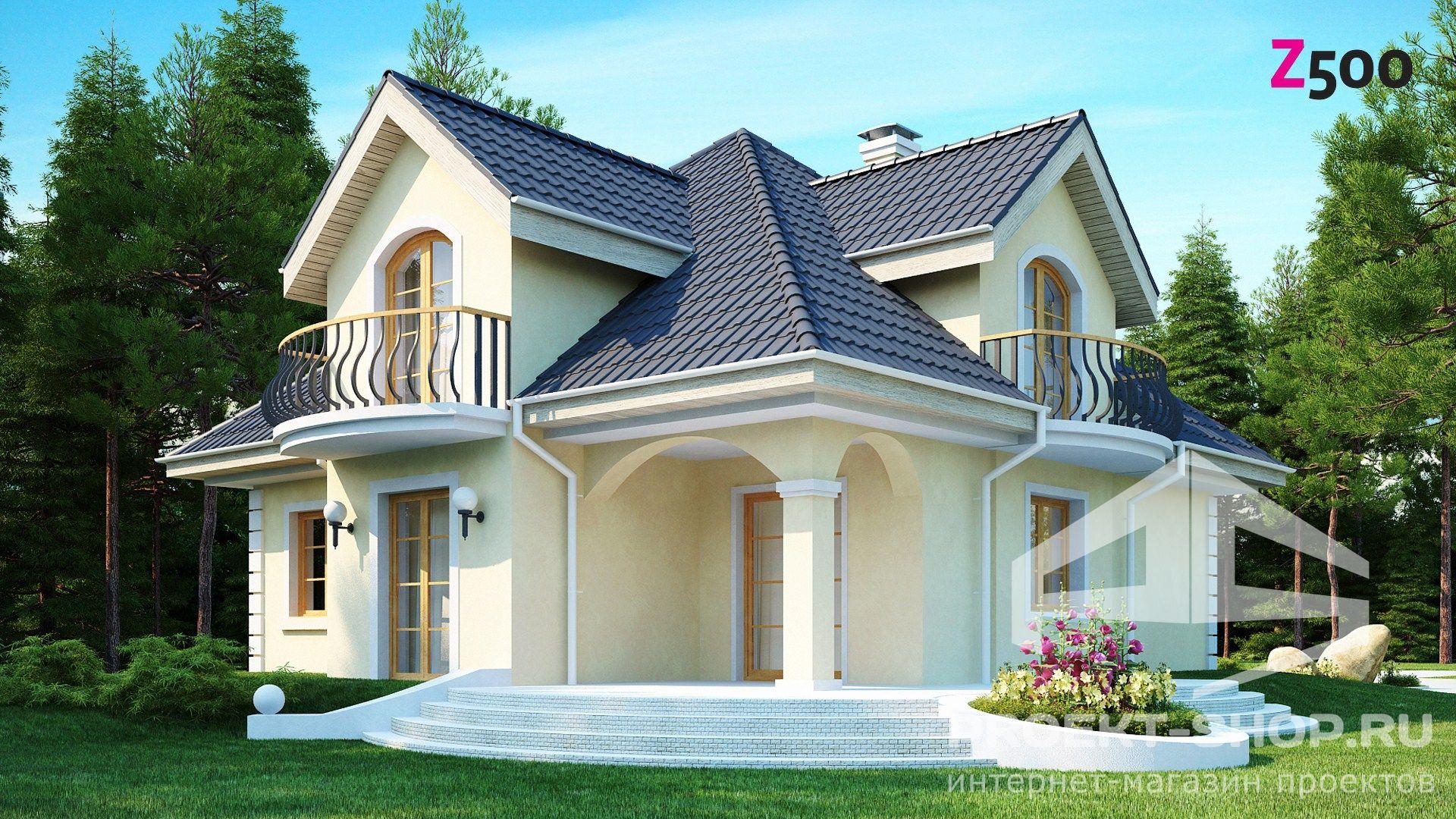 Крыши с балконом двухэтажных.