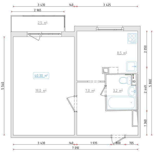 """Дизайн проект однокомнатной квартиры п 44 """" картинки и фотог."""