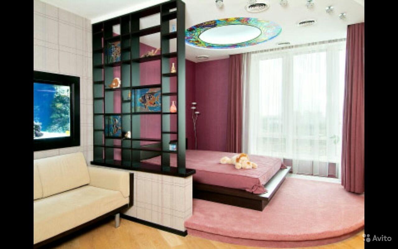 Перегородка або дод. стіна в кімнаті вітальні-спальні. Ідеї .