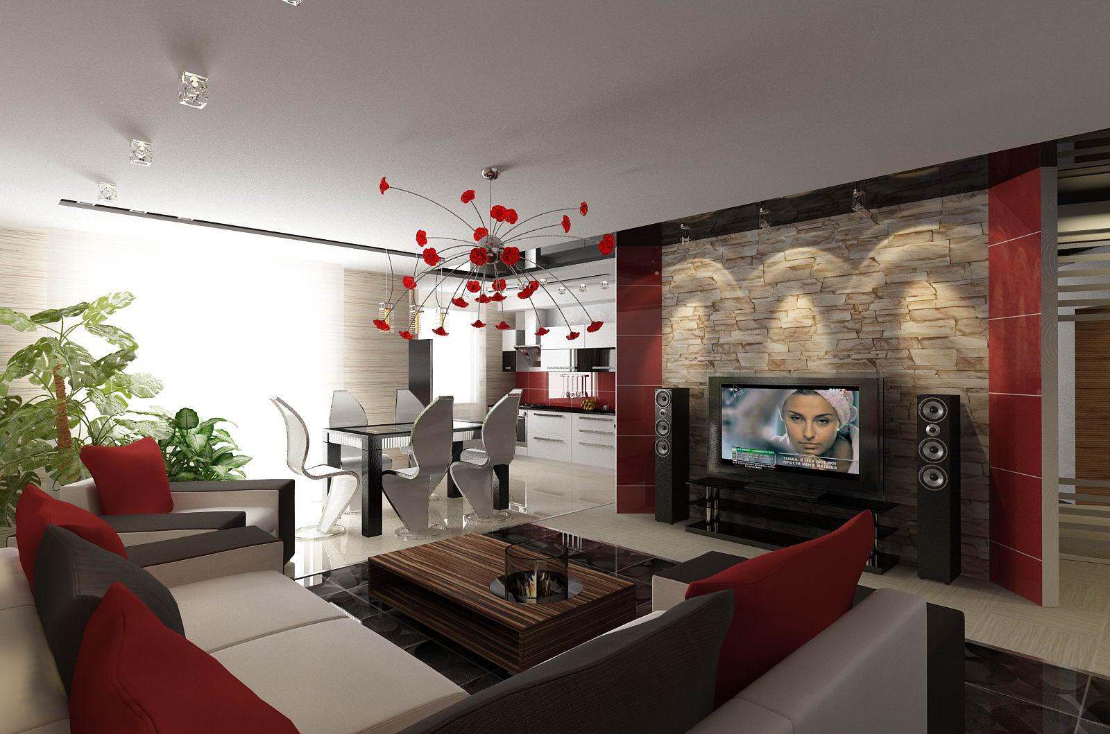 Фото дизайна кухни объединенного с залом 132