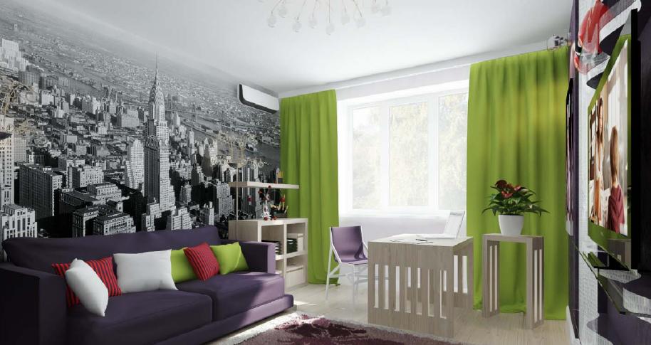 дизайн квартир с фотообоями фото