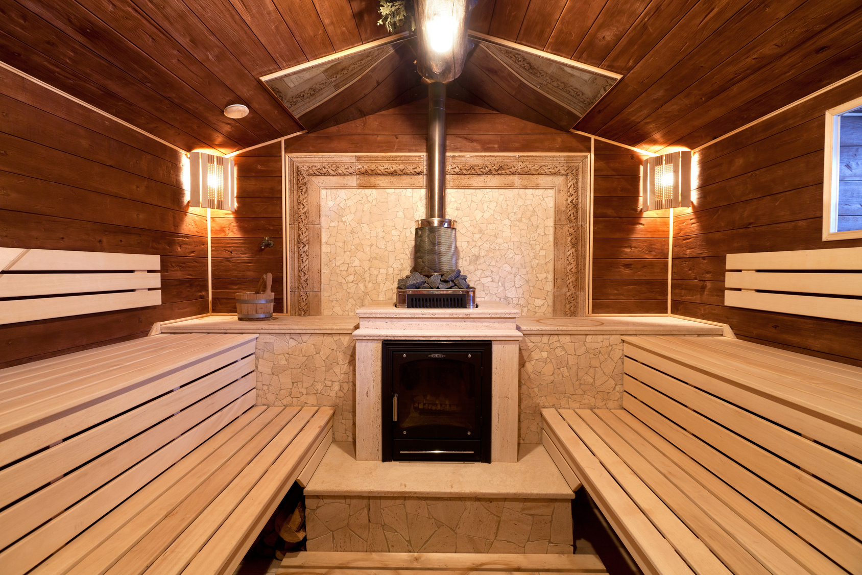 Дизайн русской бани в внутри 198