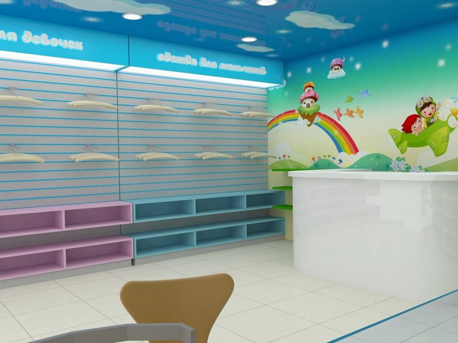 Проект дизайн детского магазина