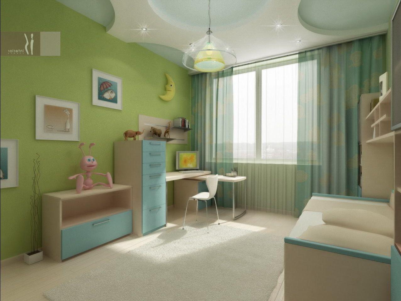 Дизайн потолков детской комнаты фото.
