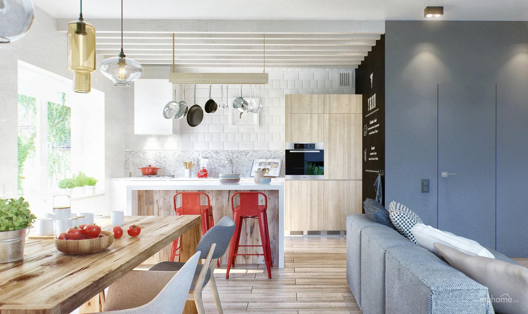 можно прочитать кухня-гостиная в скандинавском стиле фото можно найти все