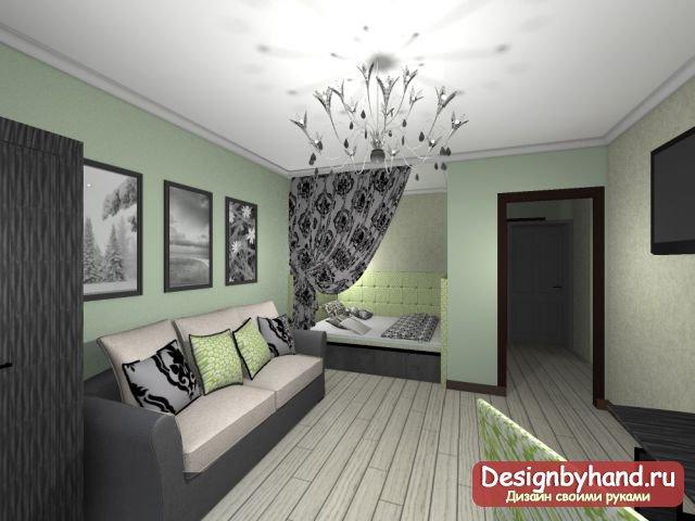 дизайн спальня-зал фото
