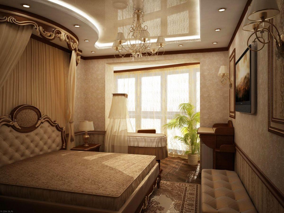 """Дизайн маленькой спальни с балконом фото """" картинки и фотогр."""