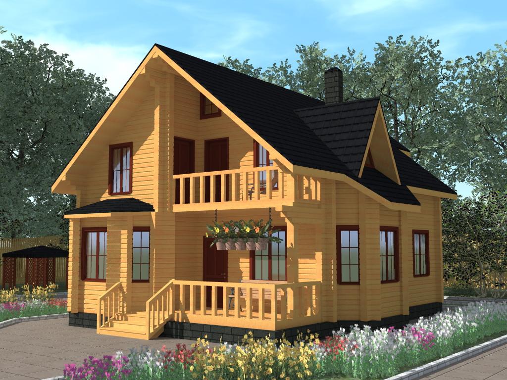 Дома с мансардой и балконом фото..