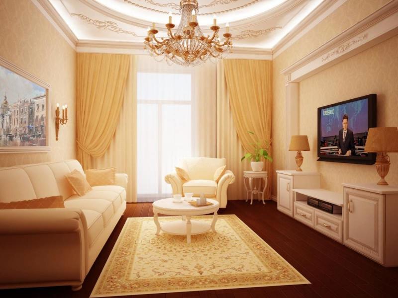 Оформление гостиной в квартире Диаспара