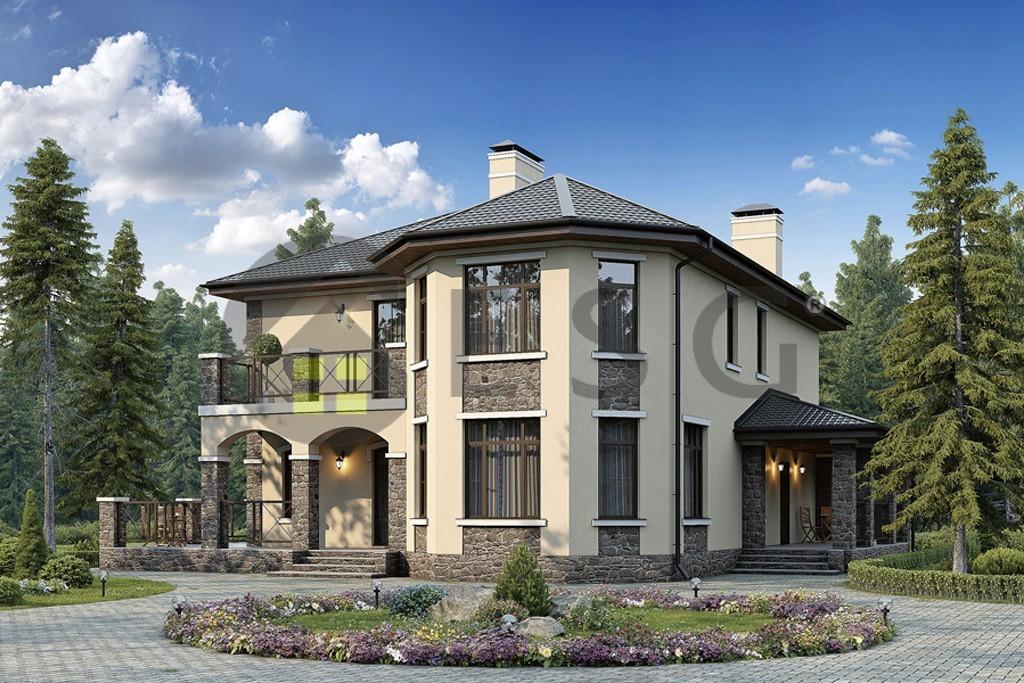Проекты домов и коттеджей с эркером фото - проекты домов с э.