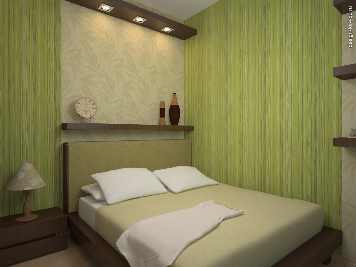 Дизайн обоев в маленькой спальне