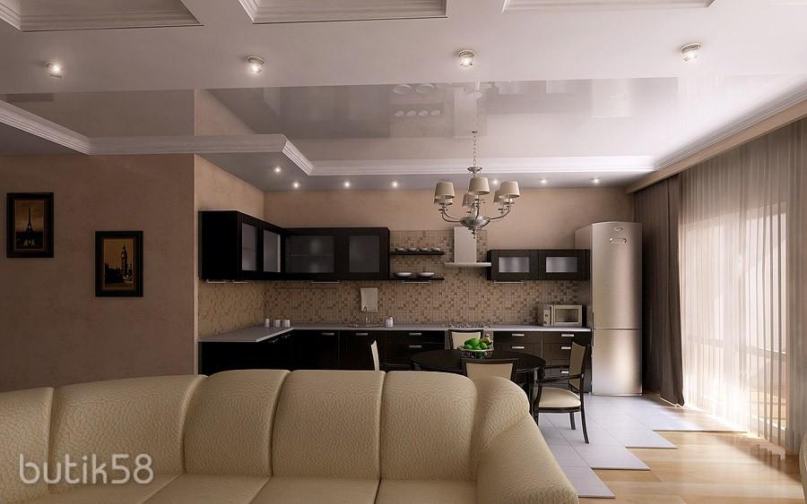 Кухня-гостиная 40 кв м дизайн