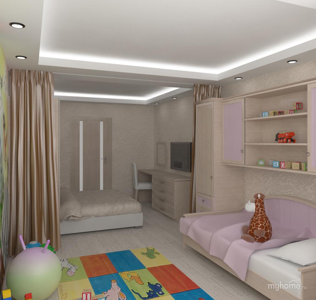 """Дизайн в однокомнатной квартире с ребенком """" картинки и фото."""