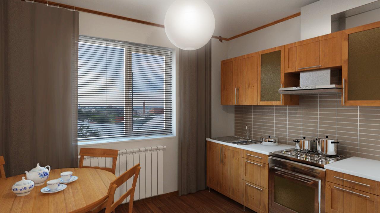 """Дизайн кухни в квартире 97 серии """" картинки и фотографии диз."""