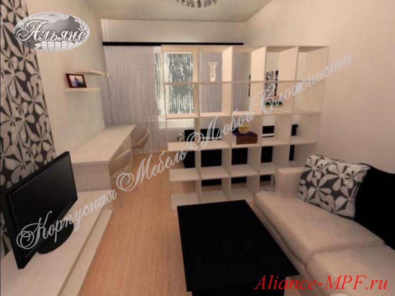 Фото гостиных совмещенных с кухней, столовой, спальней, прих.