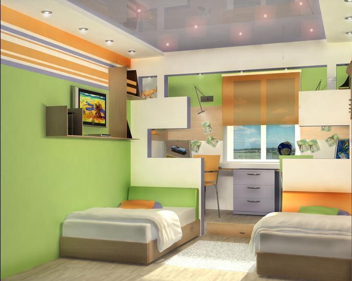 детские комнаты 12 кв м картинки и фотографии дизайна квартир