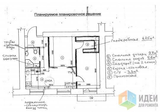 """Дизайн проекты 2-х комнатных хрущевок """" картинки и фотографи."""
