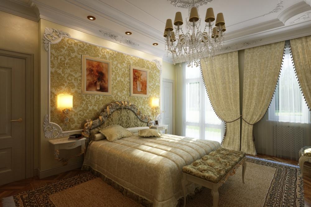 Фотогалерея интерьеров спальни в классическом стиле